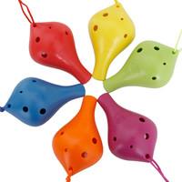 牧歌eclogue  6孔陶笛兒童玩具樹脂陶笛AC調