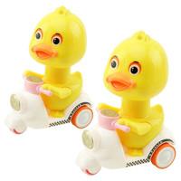 按压小黄鸭回力车儿童益智玩具 小黄鸭*2