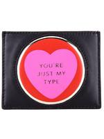 Kate Spade 凱特·絲蓓 奢侈品 女款黑紅色皮質短款卡包卡夾 PWRU5342 974