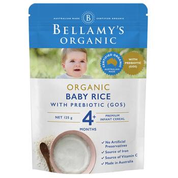 贝拉米 Bellamy's 婴幼儿辅食 宝宝有机米粉 4月以上 125g/袋 澳洲进口  富含益生元