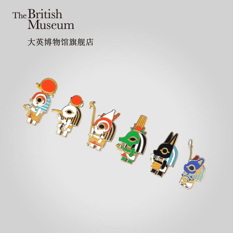 大英博物馆 埃及萌神系列胸针 6个装