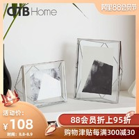 OTB 現代相框擺臺創意寶寶水晶簡約10金屬7輕奢6寸北歐a4婚紗照