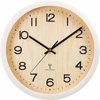 爱丽思 天然木 挂钟 电波时钟 29cm OTI 米白色 29㎝ OTI-03