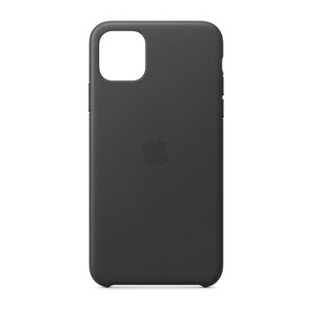 Apple iPhone 11 Pro Max 皮革保护壳  黑色