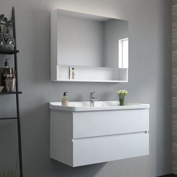 uniler 联勒 实木浴室柜 贝拉款-白色-80cm