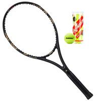 川崎全碳素網球拍 男女通用 龍拍LD-600 黑金 *3件
