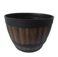 華錦 13寸酒桶花盆 610g 庭院別墅創意裝飾種植盆