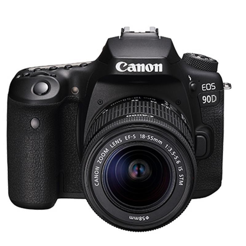 Canon 佳能 EOS 90D APS-C画幅 单反相机套机(EF-S 18-55mm F3.5-5.6 IS STM镜头)