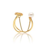 贰叁饰 链条珍珠戒指 单只