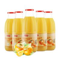 西班牙進口良珍NFC果汁柿子汁100%純果汁飲料飲品1L*6大瓶整箱裝