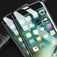 闪魔 iPhone7-XsMax 手机钢化膜 非全屏电镀版2片装 送贴膜器