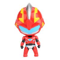 益米 兒童男孩玩具正版奧特曼崛起Q版公仔機甲變形人偶扭蛋變身器兒童男孩玩具 暴龍戰士