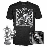 Funko POP! 3 件裝 T 恤:迪士尼 - 米奇 90 歲 T 恤和銀色蒸汽船威利、導體和學徒,亞馬遜* X-S 多種顏色
