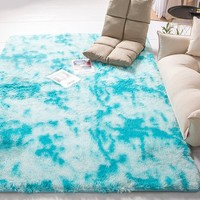 藍海棠 家用扎染地毯 40*60cm
