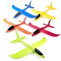匯奇寶 特技回旋手拋航模滑翔機兒童戶外親子手擲飛機泡沫飛機玩具6-14歲 35CM蜂鳥號-特技版