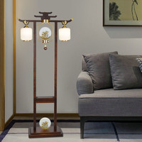 超班LED新中式落地燈簡約大氣中國風落地燈客廳書房臥室落地燈