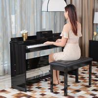 索思特 電鋼琴88鍵智能數碼電子鋼琴 重錘鍵-木紋黑