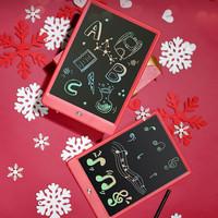 京東京造 液晶手寫板 兒童繪畫板涂鴉電子寫字板 10英寸彩虹筆跡 紅色禮品裝
