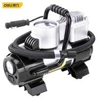 deli 得力 車載金屬充氣泵便攜式12v電動機械表打氣泵 帶燈可測壓 DL8058