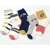 安巴布 儿童纯棉童袜 5双装