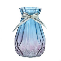 樂之沭 彩色漸變玻璃花瓶 15cm