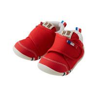 MIKIHOUSE HOT BISCUITS 寶寶嬰兒防滑刺繡一段學步鞋