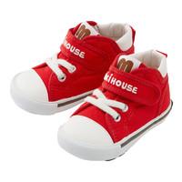 日本mikihouse經典彩虹學步鞋二段男女寶寶帆布童鞋