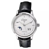 历史低价: Glashutte 格拉苏蒂 参议员系列 100-02-13-02-04 男士月相日历机械腕表