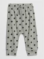 Gap 嬰兒 柔軟棉波點松緊腰長褲
