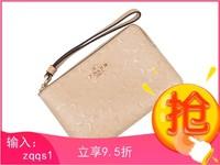 COACH 蔻馳 F58034 女款白色漆皮短款手拿包零錢包
