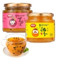 福事多 蜂蜜柚子茶 500g  蜂蜜百香果茶 500g