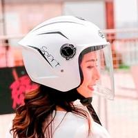 大衛電動摩托車頭盔女男冬季保暖通用