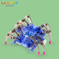 藍宙(LANDZO)科學實驗玩具 爬行蜘蛛機器人