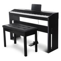 SUOSite 索思特 電鋼琴 單踏板力度鍵木紋款 雅致黑(配雙人琴凳+大禮包)