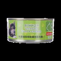 珍味貓罐頭 成貓幼貓通用寵物零食罐頭 金槍魚+雞肉貓罐頭170g*20件