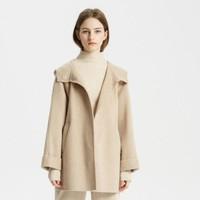 女装新款纯羊毛梭织双面呢大衣外套