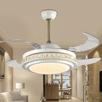 飛穩 隱形水晶風扇燈 42寸LED變光 遙控 星光之空 *4件
