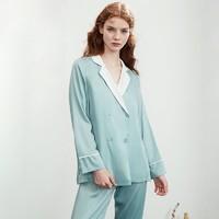 嫚熙月子服夏薄款睡袍孕婦吊帶裙哺乳睡衣家居服套裝