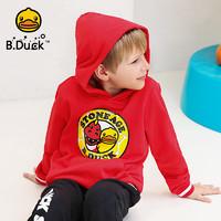 B.duck小黃鴨童裝男童連帽衛衣潮款純棉春秋裝中大童學生洋氣上衣 *4件