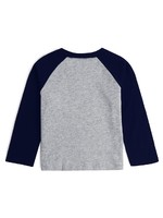 Gap 蓋璞 嬰兒 Logo徽標拼色長袖T恤