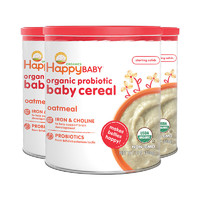 happy baby禧貝進口嬰兒有機高鐵益 生菌燕麥米粉三盒*2件