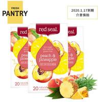 Red Seal 紅印 水果茶 桃子鳳梨口味 50g*3盒 2020.1.17到期 *2件
