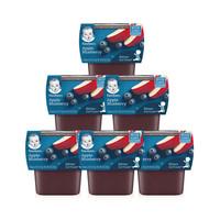 嘉寶Gerber嬰幼兒輔食蘋果藍莓泥二段113g*2盒/組*6*3件