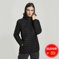 McKINLEY 連帽輕薄羽絨服 女子冬季保暖羽絨衣 285146 050 黑色 S