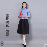 11日0點:中式結婚禮服 伴郎伴娘服衫 長袍大褂民國古裝服