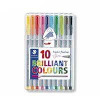 值友專享 : STAEDTLER 施德樓 334 SB10 彩色勾線針管筆 10色套裝