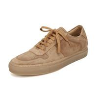 COMMON PROJECTS 男士琥珀色絨面皮革系帶板鞋運動鞋 2156 3544 40碼