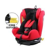 移動端 : REEBABY/瑞貝樂 銳歐拉RIOLA 906F 0-12歲 Isofix接口 車兒童安全座椅(紅色)