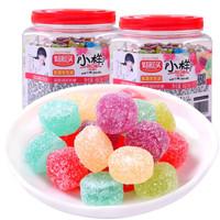 小樣酸QQ糖 桶裝糖果 混合味兒童消磨時間的小零食網紅橡皮軟糖果汁 540g*2桶