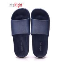 INTERIGHT經典日式浴室拖鞋 輕簡軟彈休閑洗澡涼拖鞋 男款 深藍44-45  IN7511